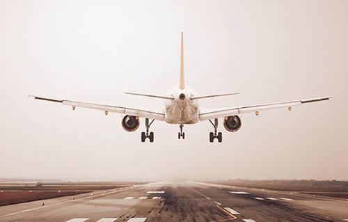 an airplane lifting
